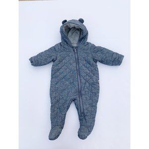 Snowsuit Baby Gap Chambray 6-12 month